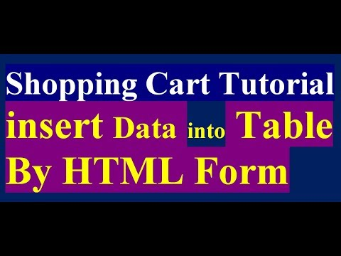 how to insert data into product table - shopping cart tutorial part 2
