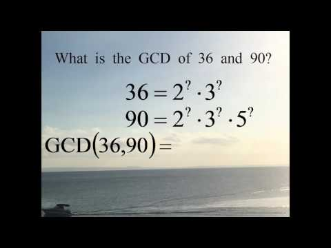 Write the prime factorizations of 36, 90. What is the Greatest Common Divisor of 36 and 90?