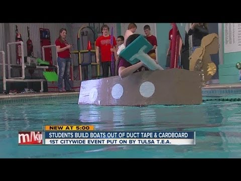Cardboard and Duct Tape Boats