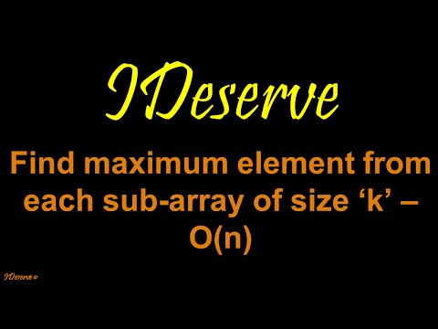 Maximum element from each subarray of size k