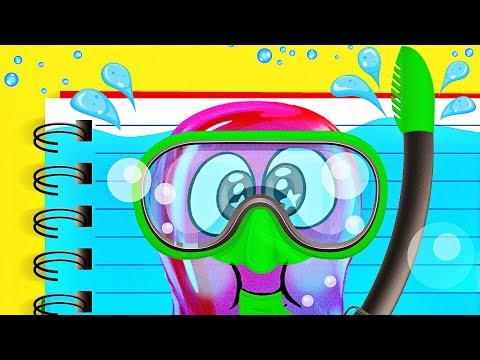 COOL LIQUID NOTEBOOK and Slime Sam