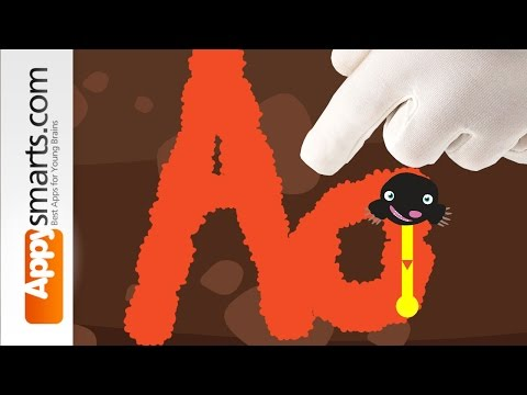 Learn to write (letters A through Z + alphabet tracing) - fun kids game video