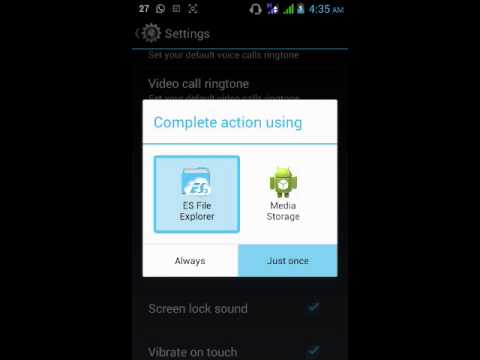 How to change sms tone android device