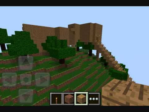 Awesome Minecraft House on iPod/iPhone App Minecraft: Pocket Edition lite