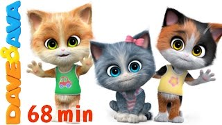 😻 Nursery Rhymes Songs Collection | 60 min 3D English Nursery Rhymes & Baby Songs from Dave and Ava