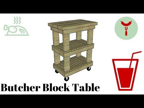 Butcher block table plans free