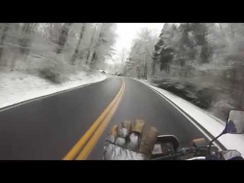 Motorcycle Crash on Black Ice