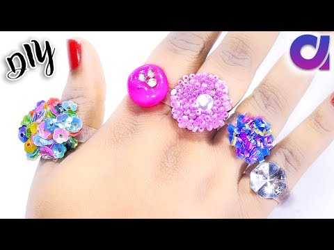 5 new amazing rings you can make at home   hot glue gun rings   Jewelry   Artkala 248