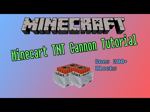 Minecraft 1.8+ - Minecart TNT Cannon Tutorial (No Commentary)