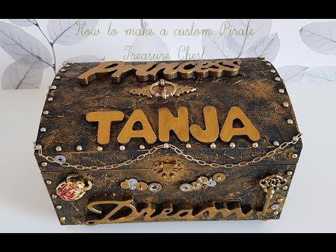 How to make a custom pirate Treasure-Chest! Tanja's treasure chest!