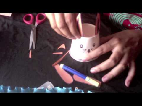 paper cup craft rabbit