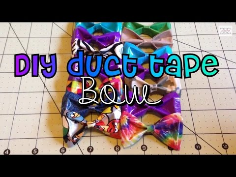 DIY: duct tape bow! For beginners!