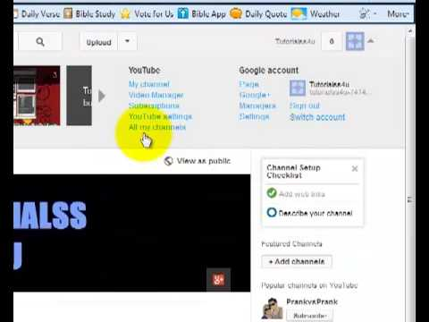 HOW TO CHANGE YOUR YOUTUBE URL | FIRST VID