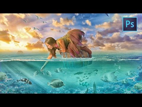 [Photoshop Manipulation] Underwater Beauty