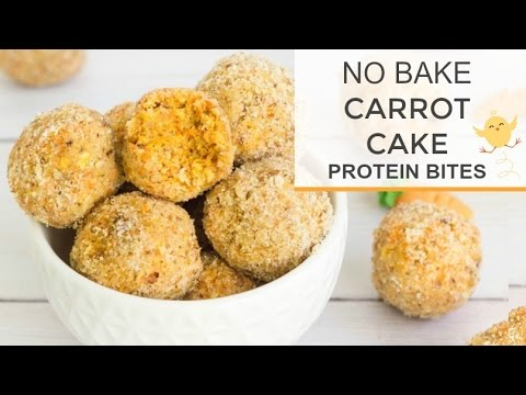 No Bake Carrot Cake Protein Ball Recipe | YouTube LIVE