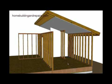 How To Support Vaulted Roof For Minor Load Bearing Exterior Wall Repairs
