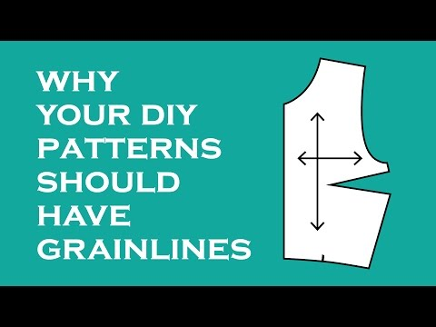 Grainlines and Accurate Pattern Placement