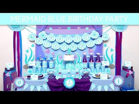 Mermaid Blue Birthday Party Ideas // Mermaid Blue - B132