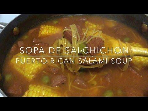 Sopa de Salchichon (Puerto Rican Salami Soup) Recipe