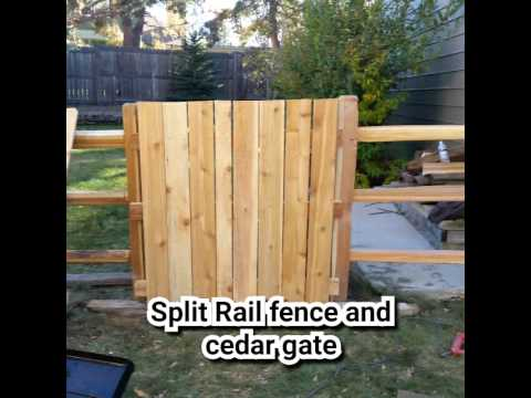 Split rail cedar fence and walk gate by KenG Fence