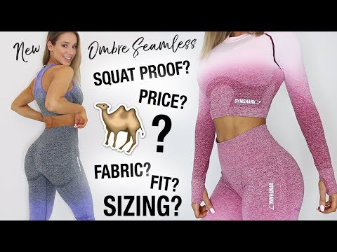 GYMSHARK OMBRE SEAMLESS | IN DEPTH REVIEW | SIZING, CAMEL TOE, SQUAT PROOF??