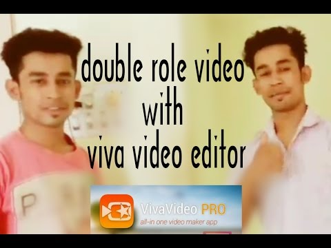 How to make double role video with Viva video editor on mobile