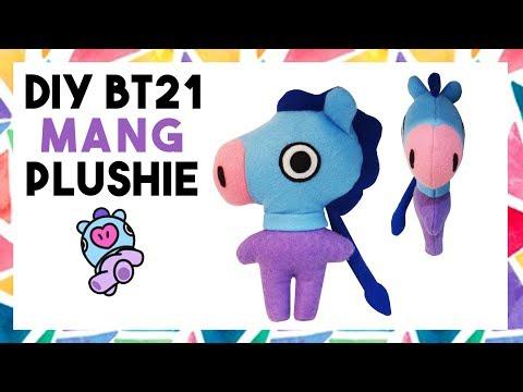DIY BT21 MANG PLUSHIE! (FREE TEMPLATE) [CREATIVE WEDNESDAY]
