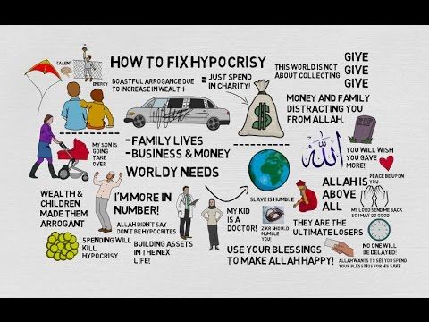 HOW TO FIX HYPOCRISY - Nouman Ali Khan Animated