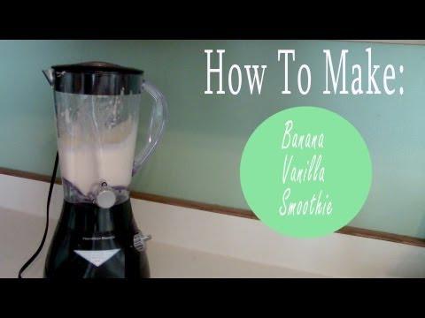 My favorite Smoothie: Banana Vanilla (How To)