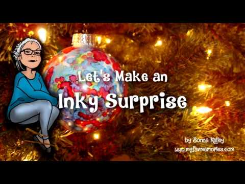 How to use Alcohol Ink on Glass Ornaments   A very Inky Surprise (2017)