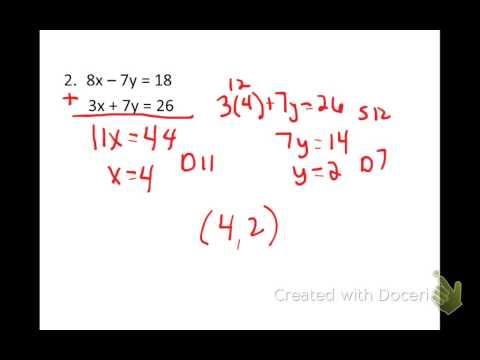 find best method solving system of equations
