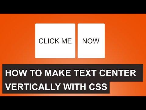 CSS Center text vertically | Quick tutorial