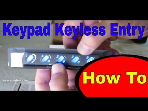 Essex AKE-5B Keyless Entry Keypad Installation Overview