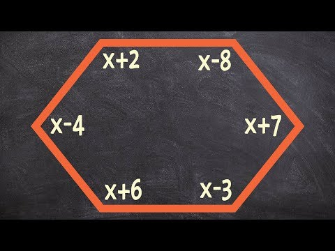 Finding the value of x for a hexagon using interior sum theorem