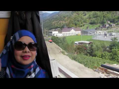 In the First Class train from Interlaken to Zermatt..haha