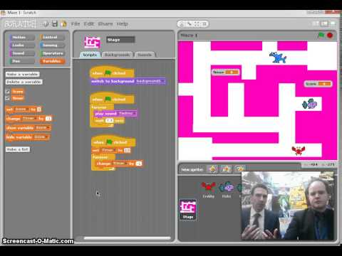 Scratch Maze Game (Step 6): Time Limit Variable