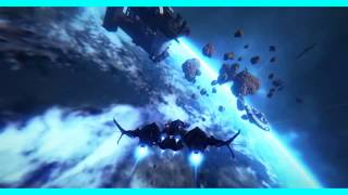 Star Conflict - Jaguar - Rank 15 Fighter Show Case In Open Space (HD)