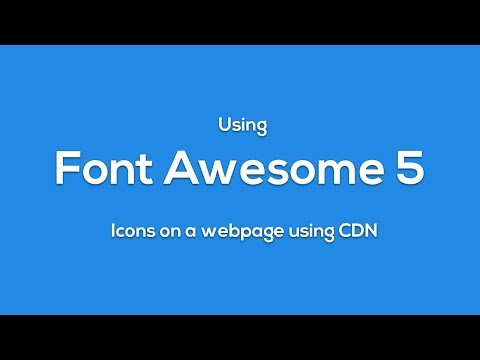 How To use Font Awesome 5 Icons in HTML using CDN - html css javascript