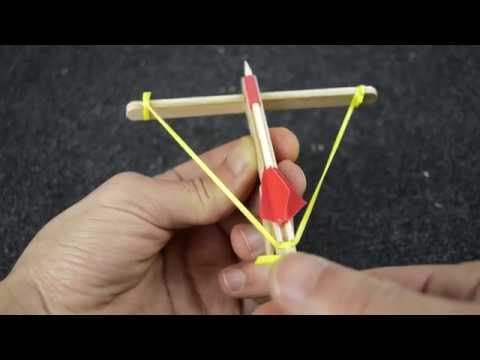 Crossbow 🏹🏹, How to Make an Awesome Mini Toothpick CROSSBOW ( Crossbow & Toothpick)