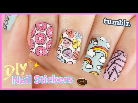 How to: DIY Nail Stickers | Nail Decals & Reverse Stamping with Tumblr Girl & Crystal Clear Stamper