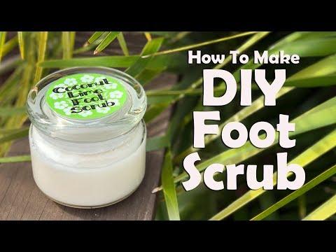 Coconut Lime Foot Scrub: How To Make DIY Foot Scrub