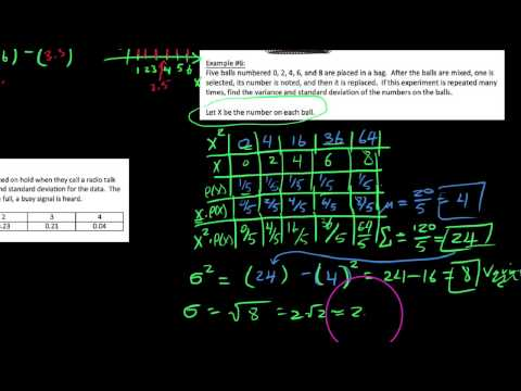 P-S 5.3.4, Finding variance and standard deviation for discrete probability distributions