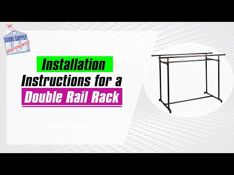 Double Rail Clothing Rack Pipeline Collection Assembly