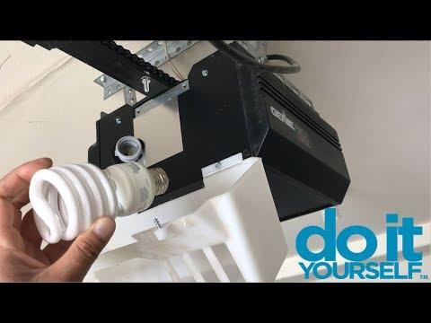 How To Replace Garage Door Opener Light Bulb | Genie Pro Max