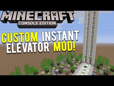 Minecraft Console: CUSTOMIZABLE INSTANT ELEVATOR MOD!