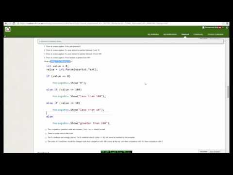 C# loops and decision making multiple choice exam