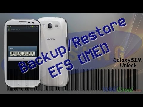 How to Backup / Restore EFS Partition [IMEI] for Samsung Galaxy Devices