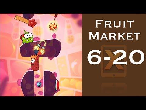 Cut the Rope 2 Walkthrough - Fruit Market 6-20 - 3 Stars + Medal [HD]
