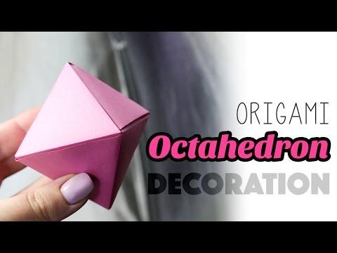 Origami Octahedron Decoration Box Tutorial ♦ DIY ♦