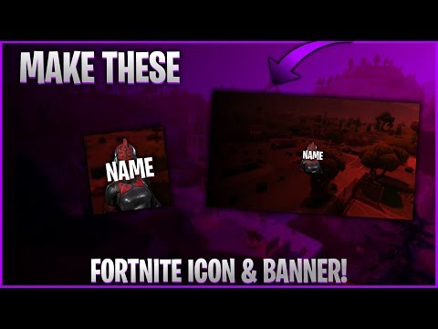 HOW TO MAKE A SICK FORTNITE ICON & BANNER!(paint.net)